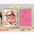 Cute Photo Frame Soft Clay Imprint DIY Baby Footprint Hand Print Cast Set Nontoxic Safe Baby Inkpad Hand Mould Frames Gift 6inch