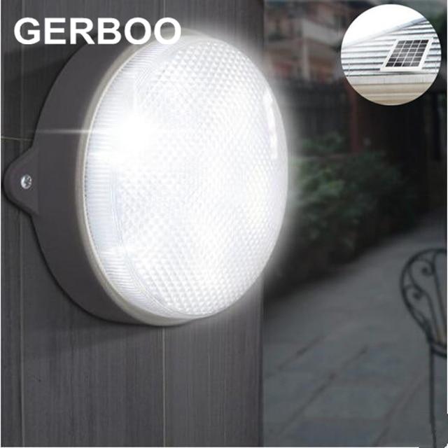 GERBOO 2016 NEW LED Solar Light Outdoor Garden Street Lights 9 LED Indoor Solar Path Emergency Wall Lamps