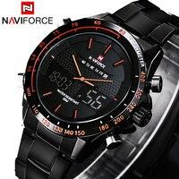 NAVIFORCE 2019 Sports Watches Men's Quartz Hour Date Clock Man Steel Digital Military Army Waterproof Wrist Watch Male Relogio