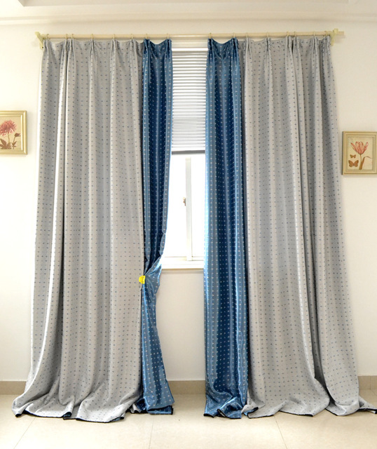 Children Thick Blue Airplane Curtains Cover Windows And Custom Finished  Bedroom Balcony
