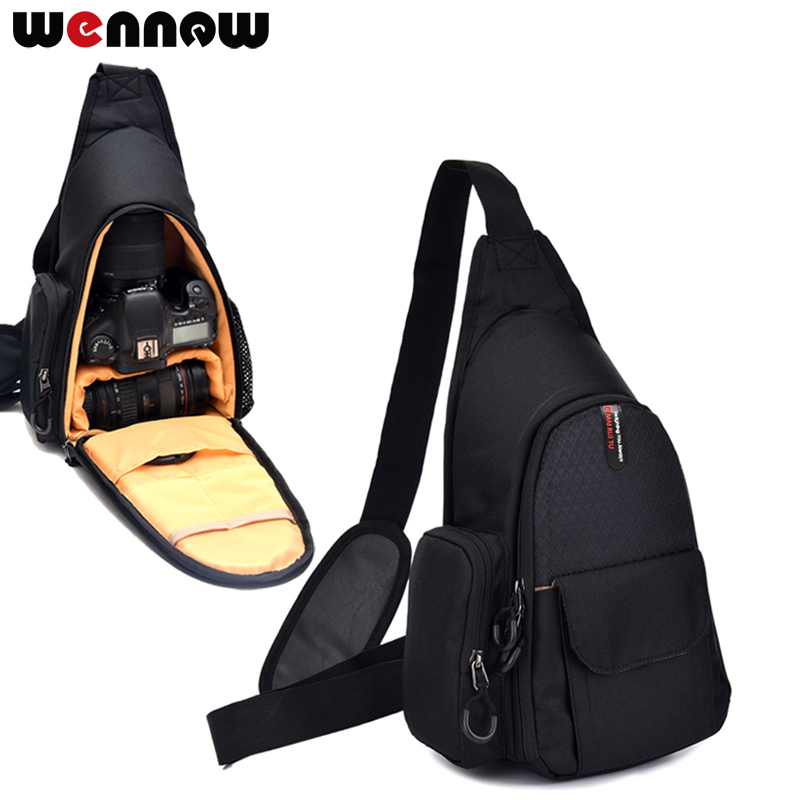 Wennew étanche DSLR Caméra sac Poitrine paquet Pour Sony RX10 IV M3 M4 DSC-RX10 III H300 DSC HX350 A58 A57 en plein air Triangle Sacs