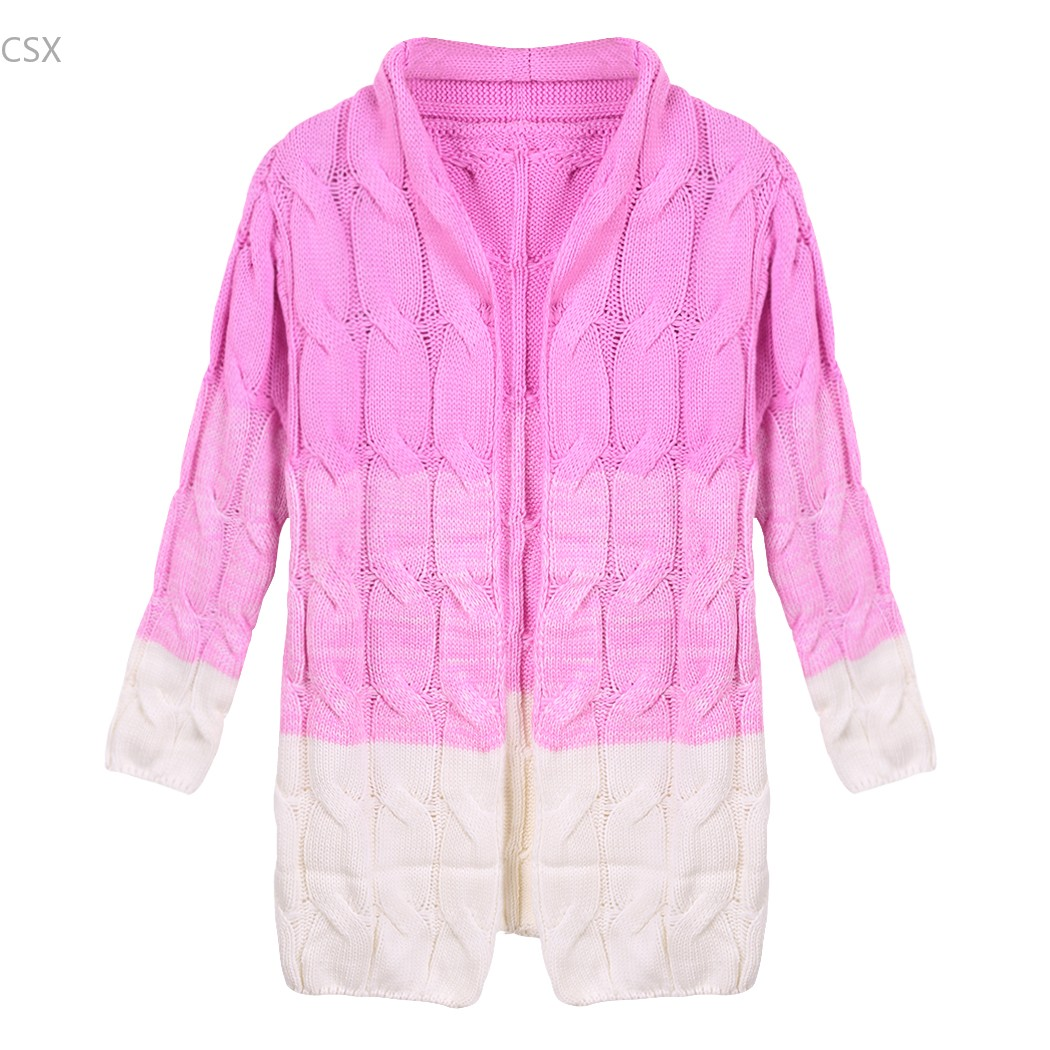 Cardigan Women's Sweater Fall Autumn Winter Thick Colorful Knitted ...