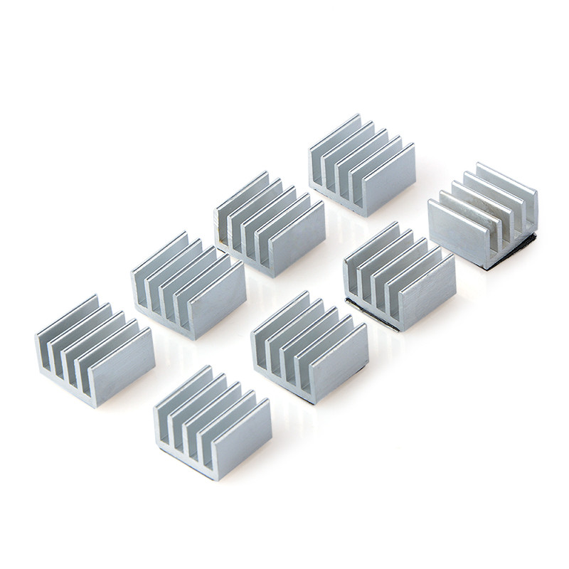 8pcs/lot Aluminum Heatsink Radiator 19x14x5.5mm Radiator Heatsink Electronic Chip Cooling Radiator Cooler Chipset Heat Sink 10pcs lot ultra small gvoove pure copper pure for ram memory ic chip heat sink 7 7 4mm electronic radiator 3m468mp thermal