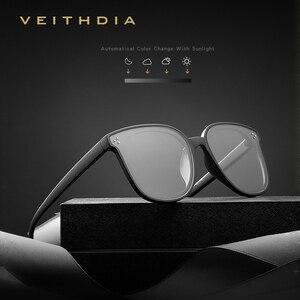 Image 1 - Veithdia Brand Fashion Zonnebril Gepolariseerde Meekleurende Lens Vintage UV400 Zonnebril Voor Mannen/Vrouwen Oculos De Sol V8510