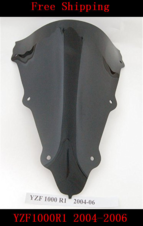 For Yamaha YZF 1000 R1 2004 2005 2006 YZF-R1 YZF-1000R motorcycle Double bubble windshield windscreen Black
