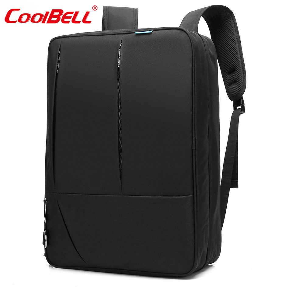 Подробнее Обратная связь Вопросы о CoolBell 17,3 дюймов конвертируемая сумка  рюкзак мужская сумка через плечо женская сумка для ноутбука мульти ... 975154d9302