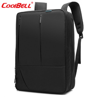 CoolBell 17.3 inch Convertible Messenger Bag Backpack Men Shoulder Bag Women Laptop Case Multi functional Travel Rucksack