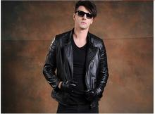 Free shipping.DHL 2016 fashion winter warm Brand clothing men cow leather Jackets,men's genuine Leather biker jacket.suede