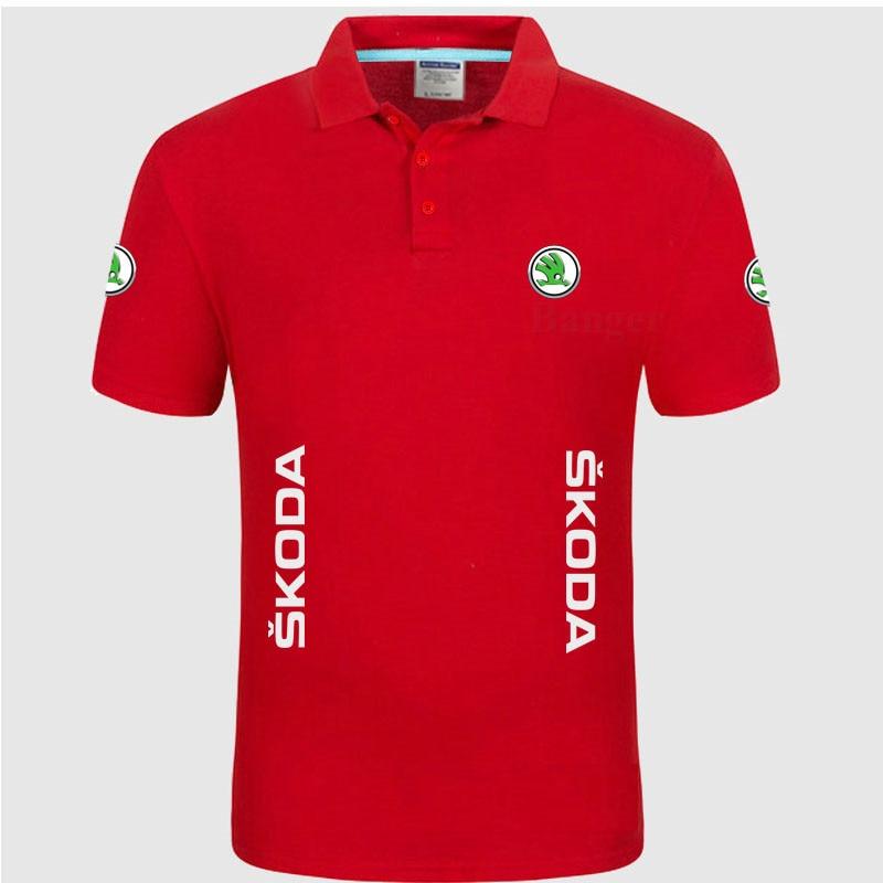 Skoda Marca de Roupa Masculina Moda Casual mulheres Camisas Polo Sólidos  Casual Polo Camiseta Tops Alta 800a054fabe1c