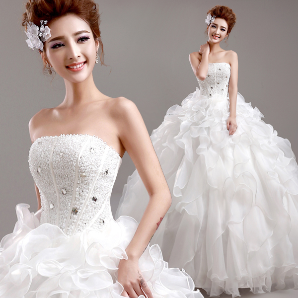 8b6a475ae1 US $93.99  s 2016 New Stock Plus Size Women Pregnant Bridal Gown Wedding  Dress Slim Long Diamond Bling Sexy Backless Korean Diamond 9908-in Wedding  ...
