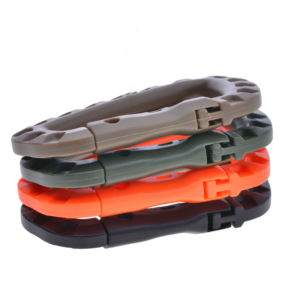 Carabiner Climb Clasp Clip Hook Backpack Molle System D Buckle Military Outdoor Bag Camping Climbing Accessories