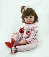 NPKCOLLECTION 55cm Hot Sale Victoria Adora Lifelike Newborn Baby Bonecas Bebe Kid Toy Girl Silicone Reborn
