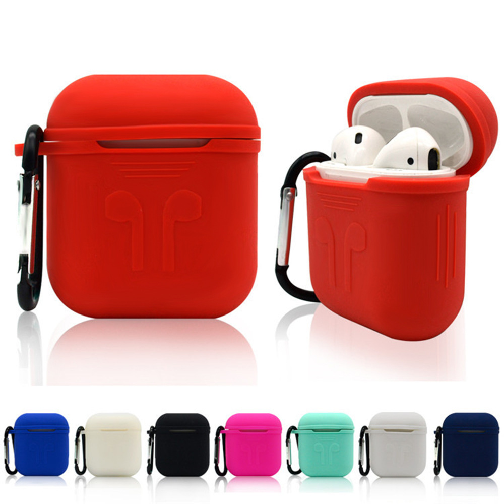 Soft Silicone Case For Airpods For Air Pods Shockproof Earphone Protective Cover Waterproof For Iphone 7 8 Headset Storage Boxes
