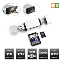 المصغّر USB إلى نوع C داعم محول مايكرو SD/SD/MMC بطاقة/USB قارئ البيانات نقل وتغ محول تحويل دعم ل دروبشيب