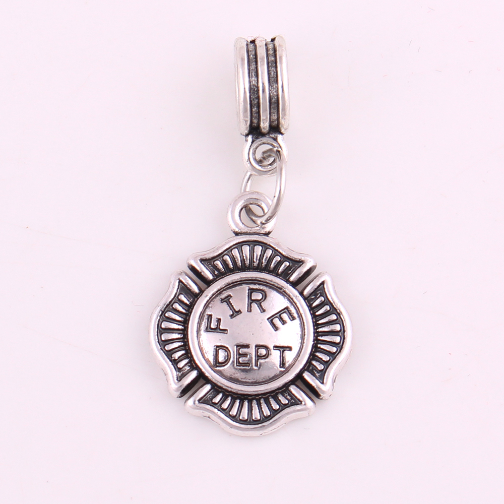 Charms 6pcs 19*16mm Antique Silver Plated Firefighting Helmet Axes Fire Dept Charms Pendants Fit Necklace Bracelet Diy Jewelry Making Discounts Price