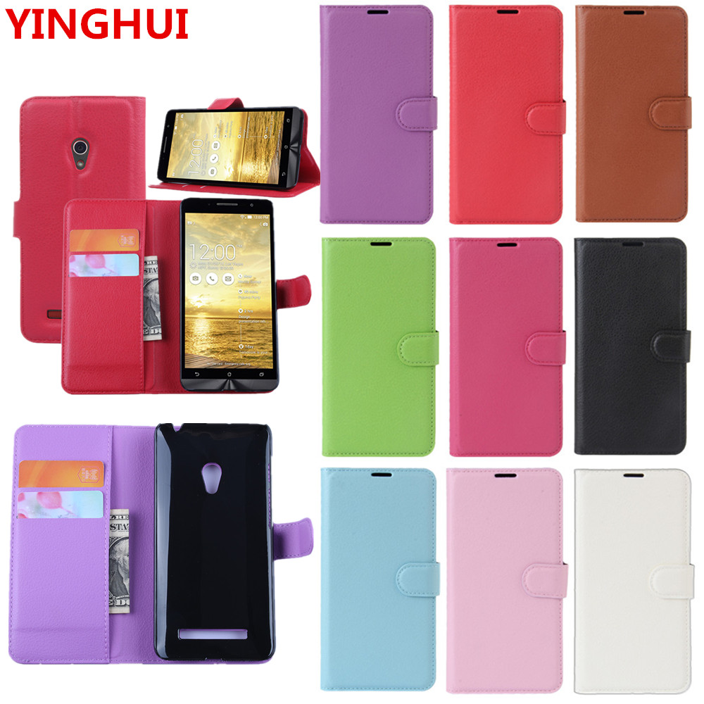For <font><b>ASUS</b></font> <font><b>ZenFone</b></font> <font><b>5</b></font> <font><b>A501CG</b></font> <font><b>Case</b></font> New Luxury Wallet PU Leather Cover Phone <font><b>Case</b></font> for <font><b>ASUS</b></font>-T00F <font><b>5</b></font>.0inch Flip Protective Cover Bag image