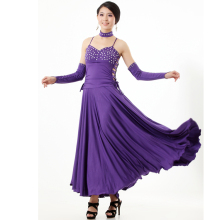 multi color modern dance  dress Ballroom Waltz Foxtrot Tango Quickstep diamond decoration big pendulum dance dress
