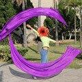 Новое Прибытие Belly Dance Шелковый Veil Poi Poi Streamer 1 пара = 2 шт. шелк завеса + 2 шт. poi цепь мяч легкой струящейся шелковый S/M/L/XL