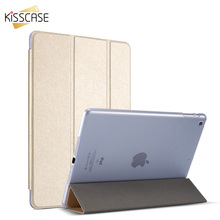 KISSCASE Leather Case For iPad Air 1 2 mini 1 2 3 4 Silk Skin Stand For iPad Pro mini 9.7