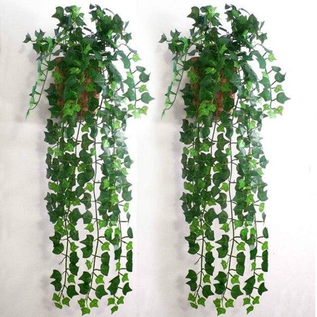 3pcs/lot 2.4m home decor artificial ivy leaf garland plants vine