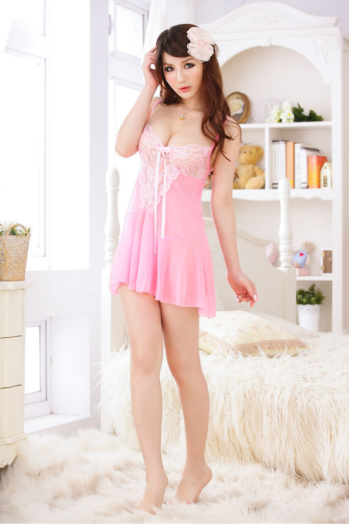 Sexy lingerie Sexy see through lace pajamas sexy nightgown