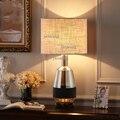 Современная Скандинавская Роскошная настольная лампа  прикроватная Светодиодная настольная лампа для спальни  простая  для гостиной  тепл...