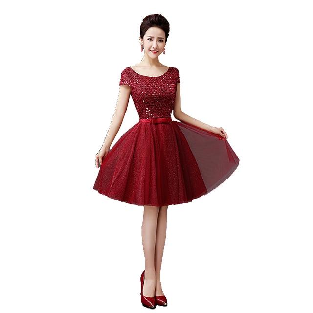 short sequined prom dresses bow bandage vestido formatura curto 3 ...