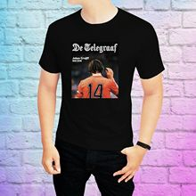 HOT Johan Cruyff 14 Retro Holland Football Player T-Shirt Dutch Yohan Ajax Tee Normal Short Sleeve Cotton T Shirts