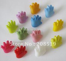 NB021 fashion buttons 400pcs fancy hand shape 14mm*14mm shank nylon mixed kid clothes button