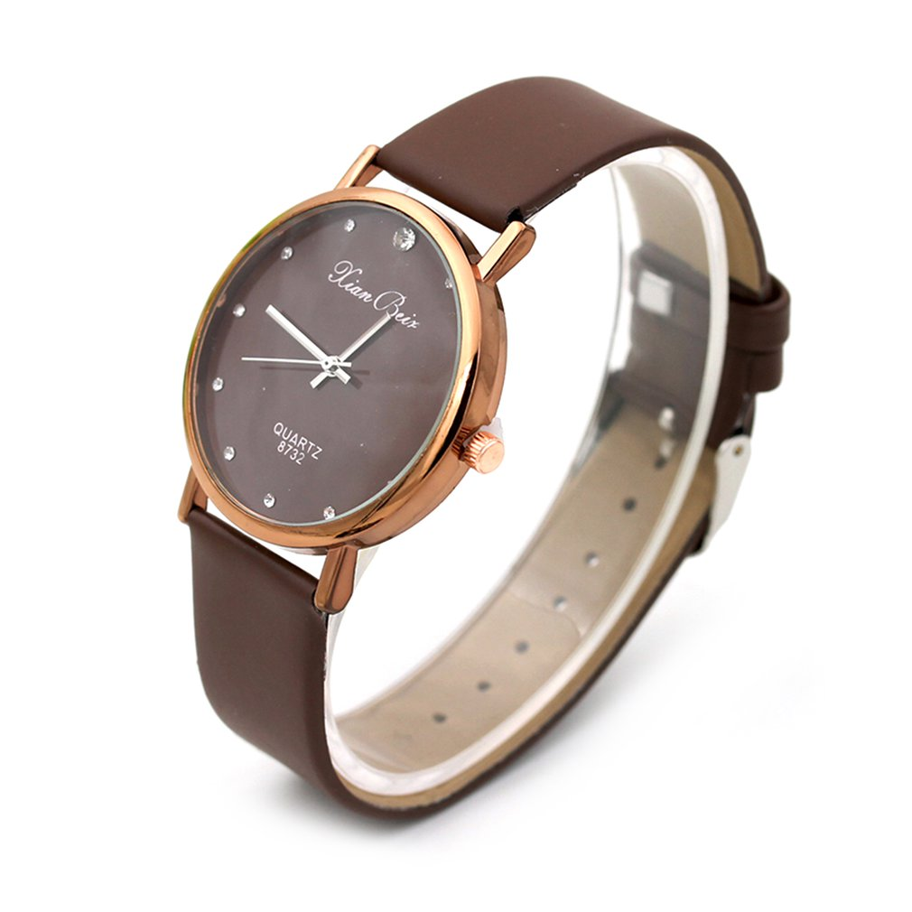 Point Drill Scale Ladies Leather Watch Casual Quartz Watches