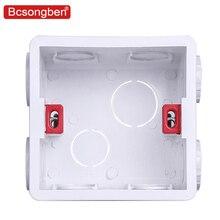 Настенная пластина, регулируемая внутренняя установка кассеты, wifi сенсорный выключатель, usb розетка, коробка, белые пластиковые материалы для 86 стандартных типов