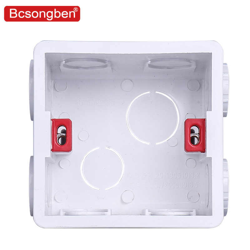Wall Plate Adjustable Internal Cassette Mounting wifi touch switch usb socket  Box White Plastic Materials For 86 Type Standard
