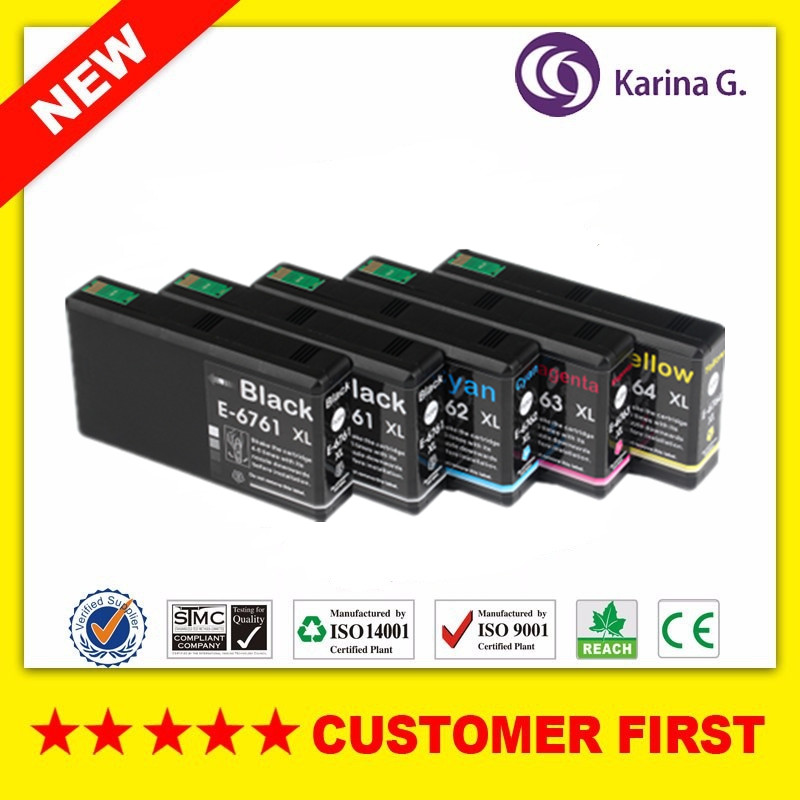 5 x Ink Cartridges for Epson T6761 676XL for Epson WorkForce Pro WP 4010 4520 4530