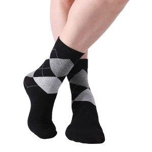 Image 4 - MYORED 10 זוגות\חבילה גברים של גרבי מוצק צבע כותנה גרבי ארגייל דפוס צוות גרבי עבור עסקים שמלת מצחיק מזדמן ארוך גרביים