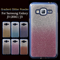 for Samsung Galaxy J3 (2016) / J3 (5.0-inch)Case Gradient Glitter Powder TPU Bag Cover for Samsung Galaxy J 3 (2016) / J 3