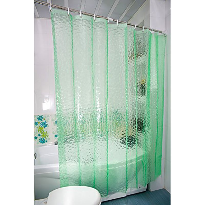 Plastic Peva Waterproof Shower Curtain Transpa White Clear Bathroom Luxury Bath With 12pcs Hooks Hot In Curtains From