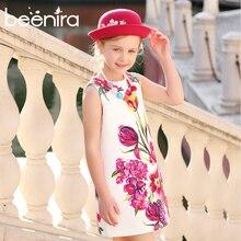 Girls Dresses Kids Clothes 2019 Brand Girls Summer Dresses Rose Flower Printed Princess Dress for Children 4-14 Y Sleeveless