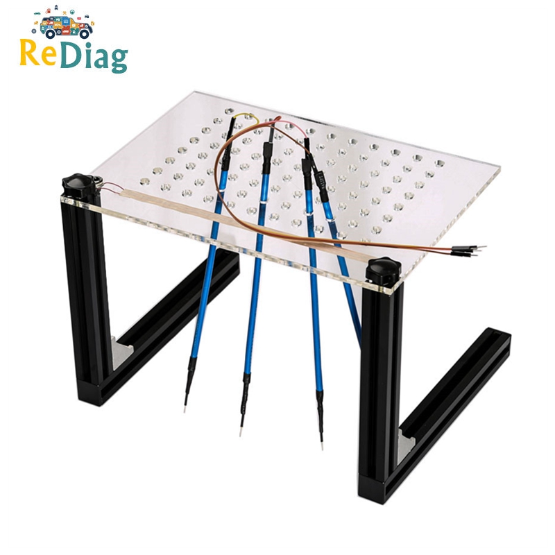 LED BDM Frame Mesh Assistant With 4 Probe Pens Works For KESS/KTAG/FGTECH/BDM100/Dimsport BDM Adapters ECU Remap Bracket
