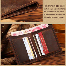 Horse leather men wallets 100% genuine leather purse