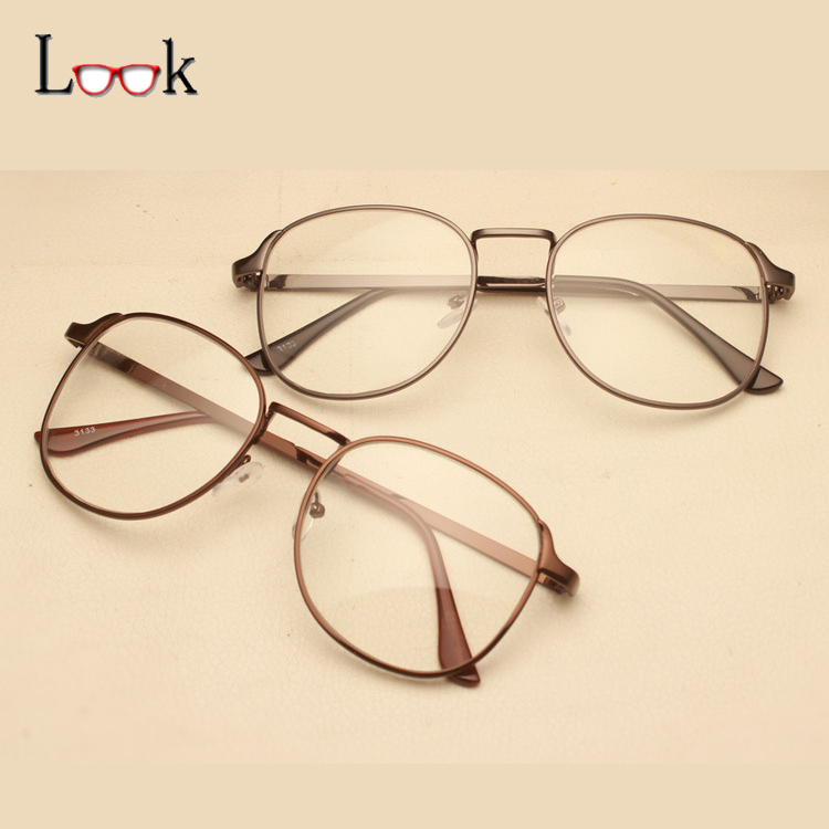 Glasses Frames 2017 : 2017 Retro Square Metal Glasses Frame Optical Eye Glasses ...
