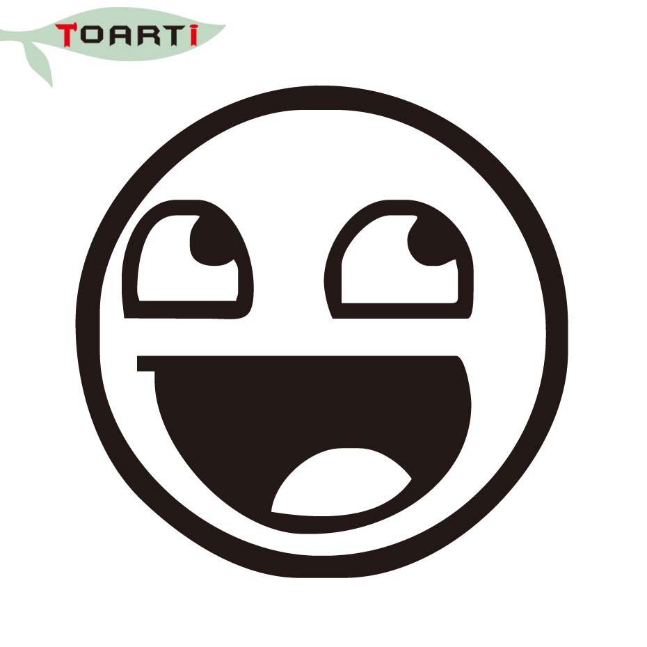 1313cm Happy Face Bumper Car Sticker Symbol Vinyl Adhesive Auto