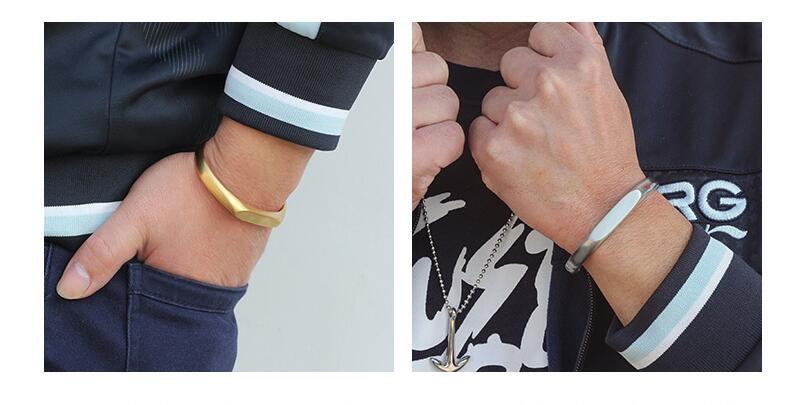 Vintage Stainless Steel Bracelet Men Titanium Steel Heavy Cuff Bangle Bracelets & Bangles Men Jewelry pulseira masculina 3