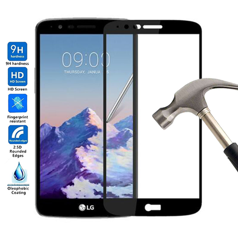 Full Cover Tempered Glass For <font><b>LG</b></font> stylus 3 Screen Protector Full Body Film For <font><b>LG</b></font> Stylus 3 <font><b>M400DY</b></font> M400DK M400F Stylus3 Glass image