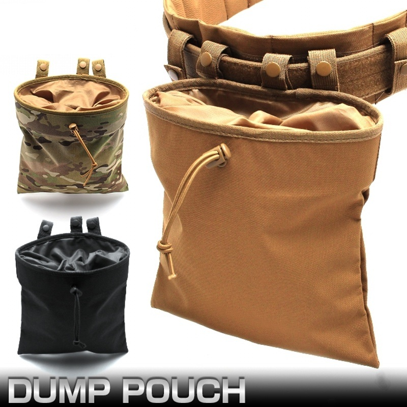 CQC Molle System AR15 Tactical Molle Dump Magazine Pouch Hunting Recovery Bag Drop Pouch Military Accessories