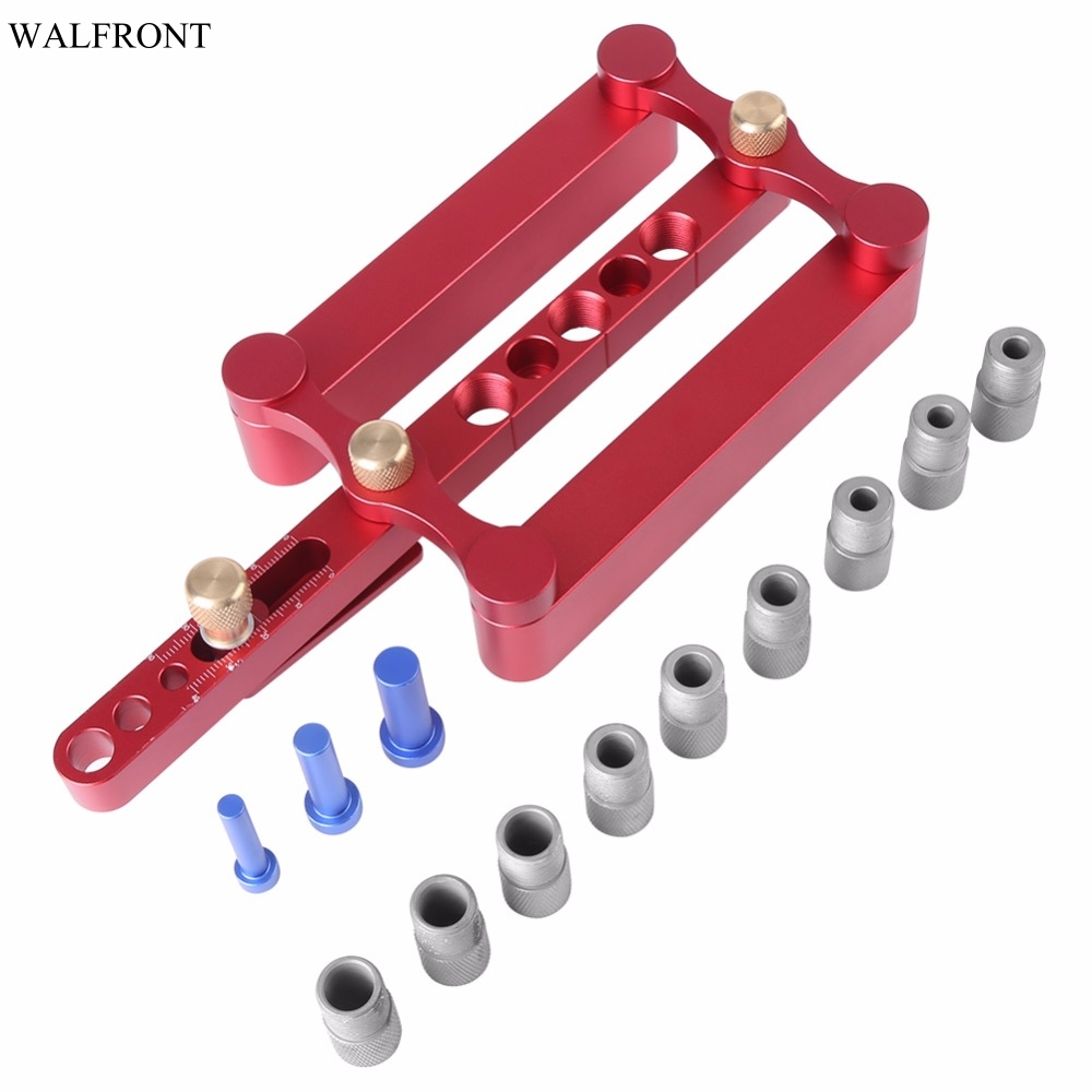 Woodworking Locator Drill Guide Wood Dowel Hole Drilling Guide Woodworking Positioner Tool for Making 6 8
