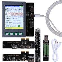 Verificador da bateria do cabo de usb para o iphone xs xr xs max x 8 p 7 p 6 s 6 6 p 5 5S verificador de dados do cabo da bateria ciclo claro