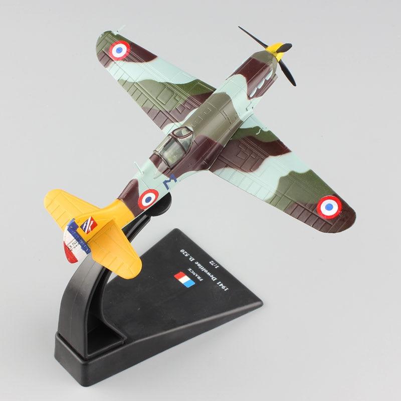 1/72 scale miniature AMER World War II aircraft fighter diecast France 1941 Dewoitine D.520 plane replica warplane model Toys keith d dickson world war ii for dummies®