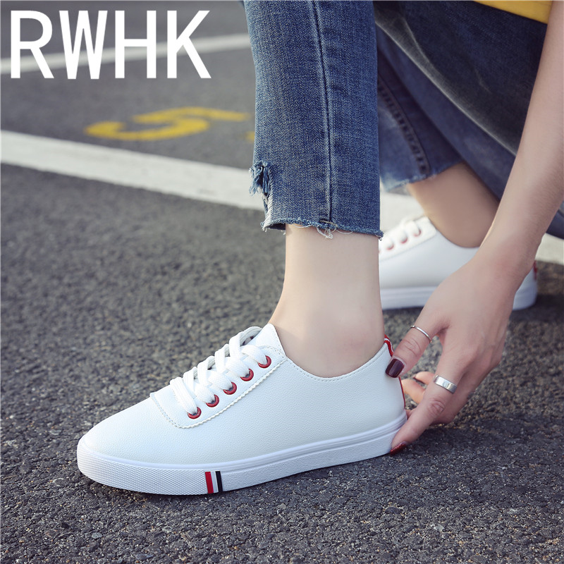 RWHK Small white shoes 2019 summer new Korean version of flat casual wild low comfortable student B369