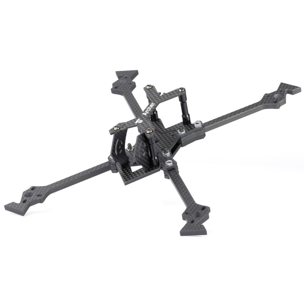 IFlight fibre de carbone Archer X5 V2 5 pouces 218mm X cadre avec 5mm d'épaisseur bras compatible dalprop 5040 hélice pour kit de drone FPV