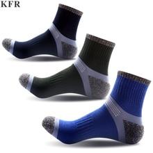 KFR Men Socks Conventional Sports Socks Breathable Sweat Absorbing Deodorant Cotton Outdoor Men Basketball Sports Socks Outdoor цена